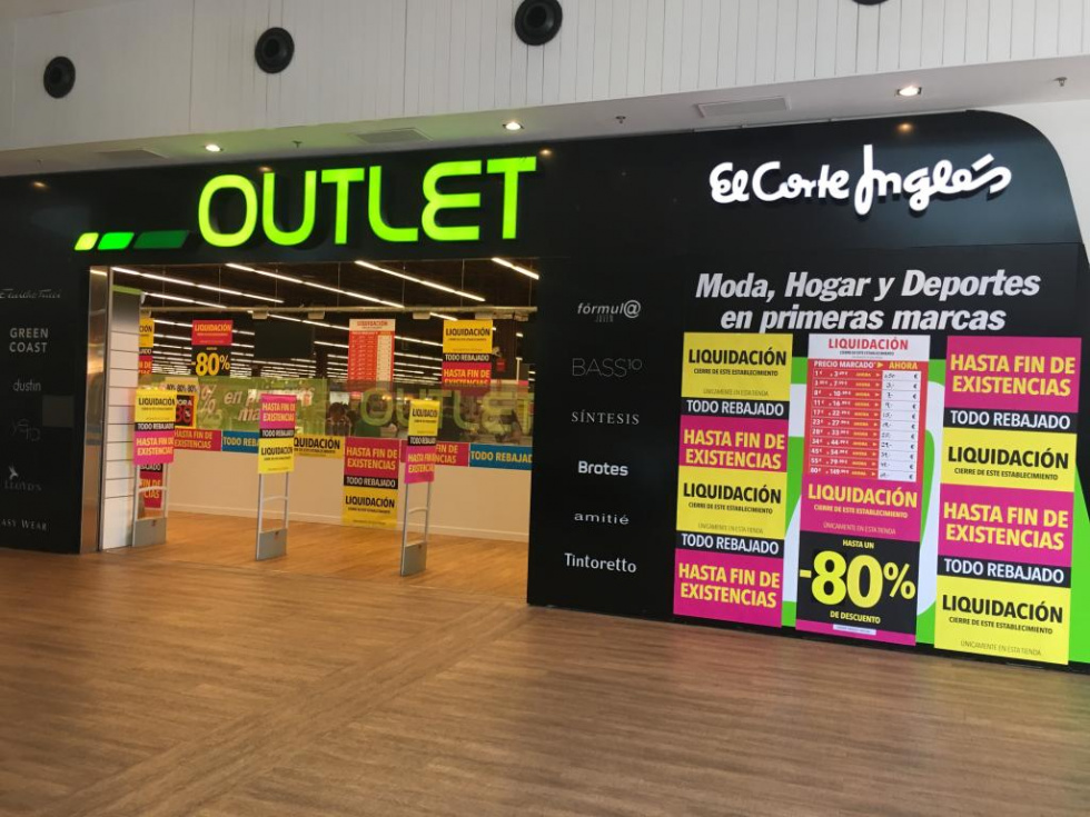 81e785e37876 El Corte Inglés cierra su outlet en Nassica | ZIGZAG digital ...